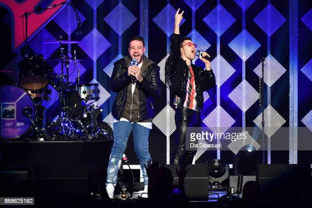 Max Schneider speaks onstage at the Z100's Jingle Ball 2017 on December 8 2017 in New York City