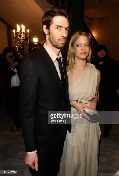 Max Schroeder and actress Heike Makatsch attend the Annual Cinema For Peace Gala during day five of the 60th Berlin International Film Festival at...