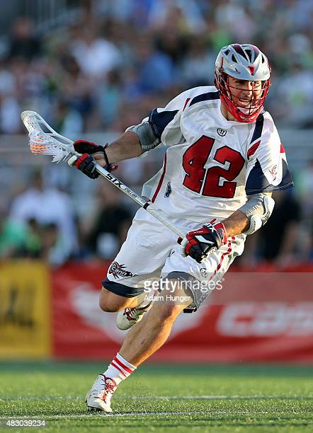 Max Seibald of the Boston Cannons against the New York Lizards at James M Shuart Stadium on August 1 2015 in Hempstead New York