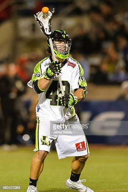 Max Seibald of the New York Lizards controls the ball against the Ohio Machine on May 17 2014 at Selby Stadium in Delaware Ohio New York defeated...