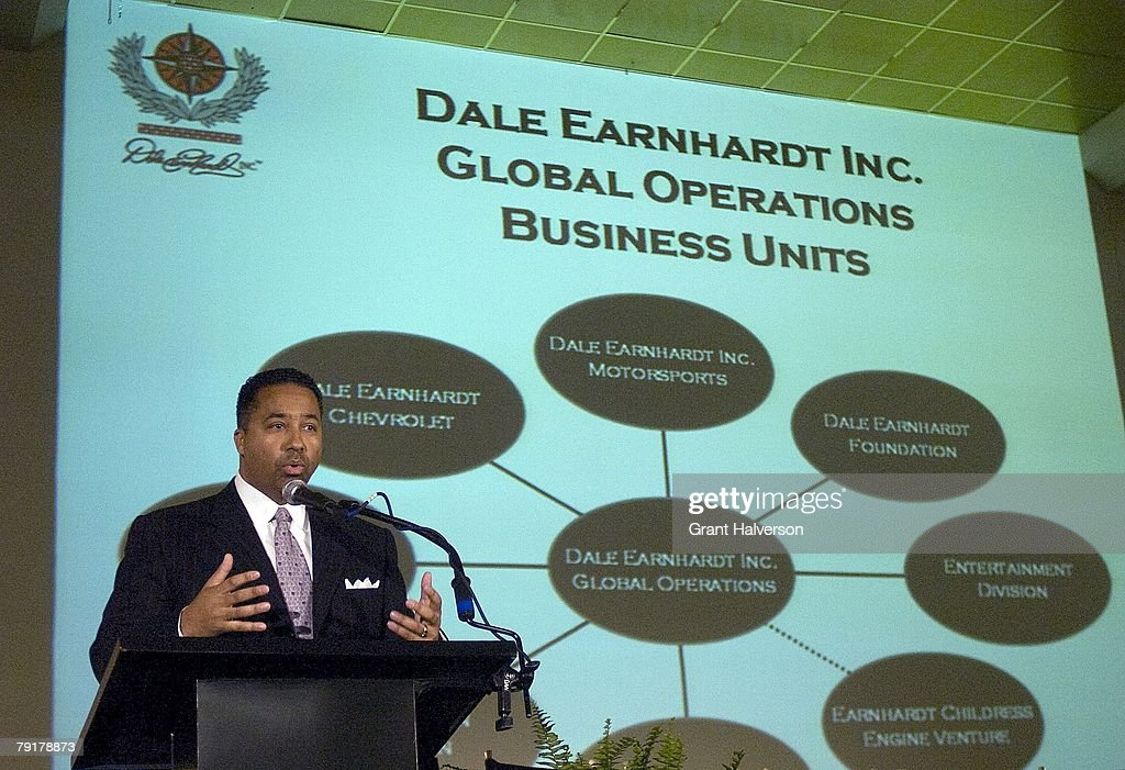 Max Siegel, president of global operations, speaks during a media event at Dale Earnhardt, Inc. on January 23, 2007 in Mooresville, North Carolina.