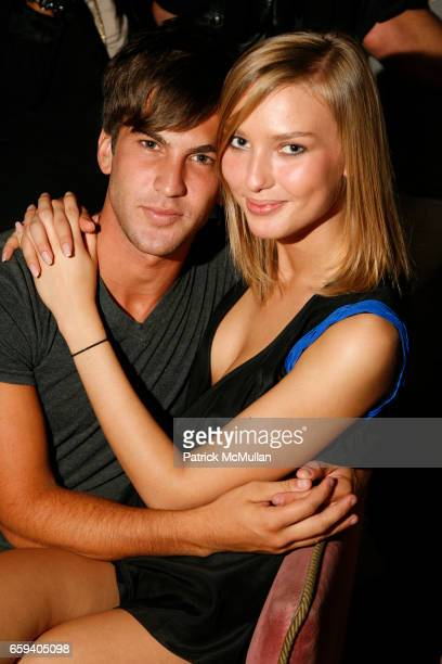 Max Simonet and Adriana Cernanova attend FORD Models Fashion Week KickOff Party at Rose Bar on September 9 2009 in New York City