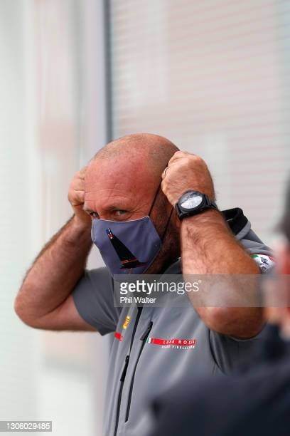 Max Sirena of Luna Rossa Prada during the 2021 America's Cup press conference at the PRADA Media Centre on March 09, 2021 in Auckland, New Zealand.