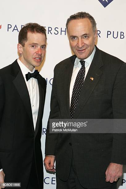 Max Stier and Sen Charles Schumer attend The Partnership for Public Service Gala Honors Senator Joseph Lieberman and Dennis Haysbert at Cipriani's...