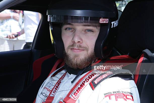 Max Theriot attended the Toyota Grand Prix Of Long Beach Pro/Celebrity Race Race Day at Toyota Grand Prix of Long Beach on April 12 2014 in Long...