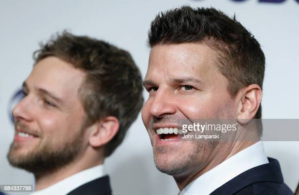 Max Thieriot and David Boreanaz attends 2017 CBS Upfron at The Plaza Hotel on May 17 2017 in New York City