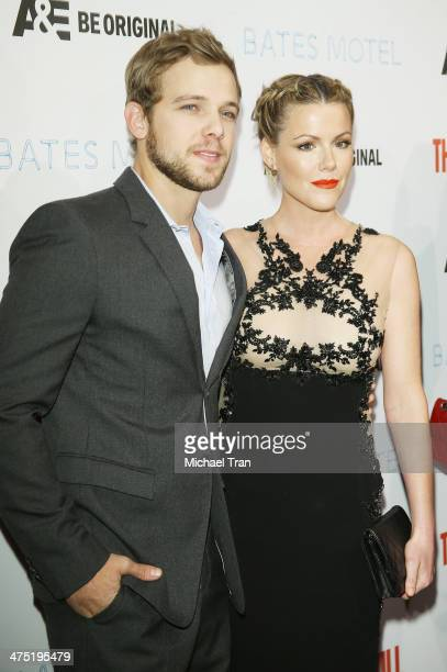 Max Thieriot and Kathleen Robertson arrive at the premiere party for AE's season 2 of 'Bates Motel' and series premiere of 'Those Who Kill' held at...