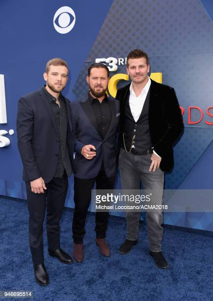Max Thieriot Max Thieriot and David Boreanaz attend the 53rd Academy of Country Music Awards at MGM Grand Garden Arena on April 15 2018 in Las Vegas...