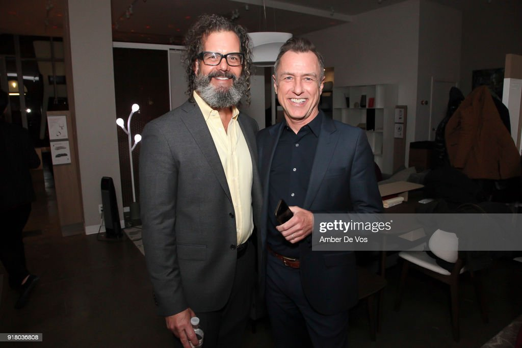 Max Thomas and Gabriel Masson attend New York Chinese New Year Celebration at Calligaris SoHo on February 13, 2018 in New York City.