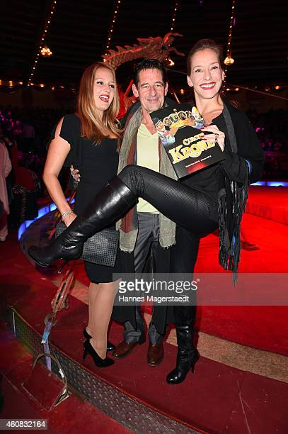 Max Tidof and Lisa Seitz and their daughter Luzie attend the 'Circus Krone Christmas Show 2014' at Circus Krone on December 25 2014 in Munich Germany