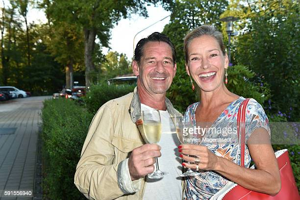 Max Tidof and Lisa Seitz during 'La Dolce Vita Grillfest' at Gruenwalder Einkehr on August 17 2016 in Munich Germany
