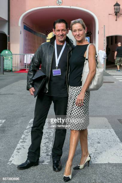 Max Tidof and Lisa Seitz pose for a picture the 'Inconvenient Sequel' premiere and opening night of the Kitzbuehel Film Festival 2017 at Filmtheater...