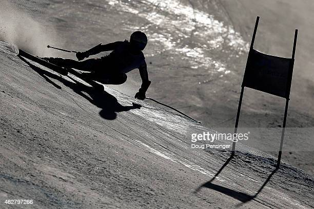 Max Ullrich of Croatia races during the Men's SuperG on the Birds of Prey racecourse on Day 4 of the 2015 FIS Alpine World Ski Championships on...