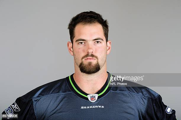 Max Unger of the Seattle Seahawks poses for his 2009 NFL headshot at photo day in Seattle Washington