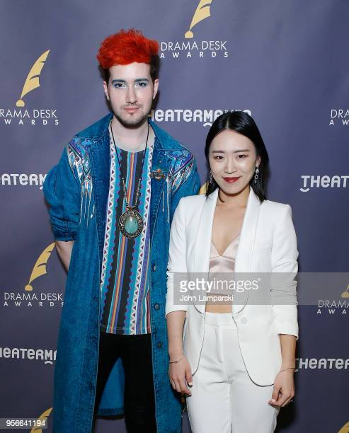 Max Vernon and Helen Park attends 63rd Annual Drama Desk Awards nominees reception at Friedmans in the Edison Hotel on May 9 2018 in New York City