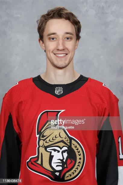 Max Veronneau of the Ottawa Senators poses for his official headshot for the 20182019 season before the NHL game against the St Louis Blues at...