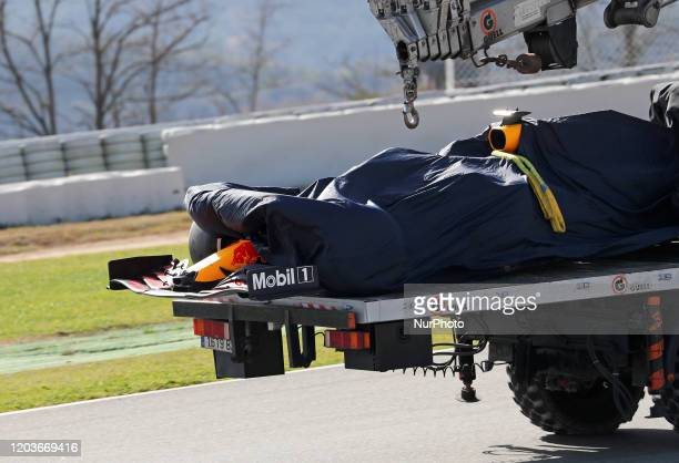 Max Verstappen and the Aston Martin Red Bull RB 16 during the day 5 of the formula 1 testing on 27 February 2020 in Barcelona Spain