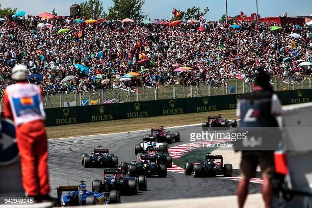 Max Verstappen Carlos Sainz jr Toro RossoRenault STR10 Grand Prix of Spain Circuit de BarcelonaCatalunya 10 May 2015