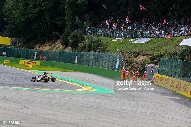 Max Verstappen driving for the Scuderia Torro Rosso Team in action during the race of the 2015 Formula 1 Shell Belgian Grand Prix at Circuit de...