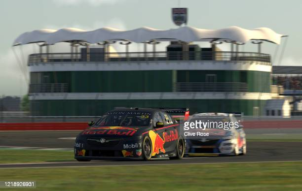 Max Verstappen driving the Aston Martin Red Bull Racing Holden Commodore ZB in Race 4 during round 2 of the Supercars All Stars Eseries at...