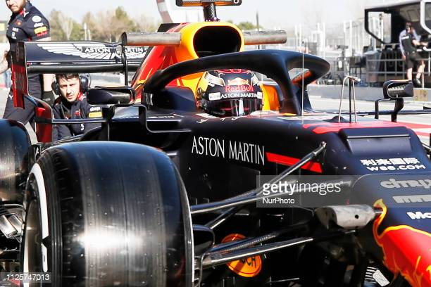 Max Verstappen during the winter test days at the Circuit de Catalunya in Montmelo February 18 2019