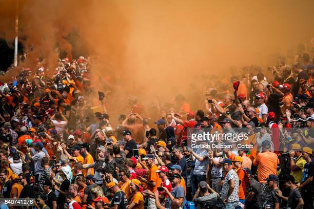 Max Verstappen fans at Circuit de SpaFrancorchamps on August 27 2017 in Spa Belgium