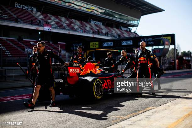 Max Verstappen from Nederland with 33 Aston Martin Red Bull Racing Honda RB15 in action during the Formula 1 2019 PreSeason Tests at Circuit de...