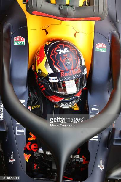 CATALUNYA MONTMELò BARCELONA SPAIN Max Verstappen of Aston Martin Red Bull Racing during day two of F1 Winter Testing