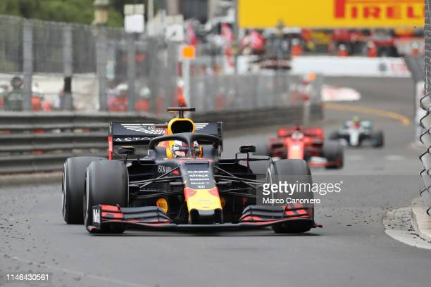 Max Verstappen of Aston Martin Red Bull Racing on track during the F1 Grand Prix of Monaco