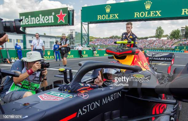 Max Verstappen of Netherland and Red Bull Racing driver arrives to the grid before the race at Hungarian Rolex Formula 1 Grand Prix on Jul 29 2018 in...