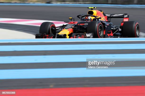 Max Verstappen of Netherlands and Aston Martin Red Bull Racing on track during Formula One Gran Prix de France