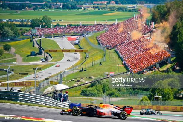 Max Verstappen of Netherlands and Red Bull Racing during the F1 Grand Prix of Austria at Red Bull Ring on June 30 2019 in Spielberg Austria