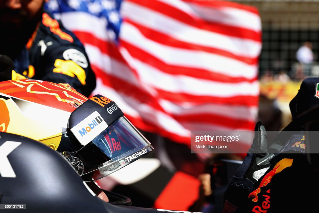 Max Verstappen of Netherlands and Red Bull Racing on the grid before the United States Formula One Grand Prix at Circuit of The Americas on October 22, 2017 in Austin, Texas.