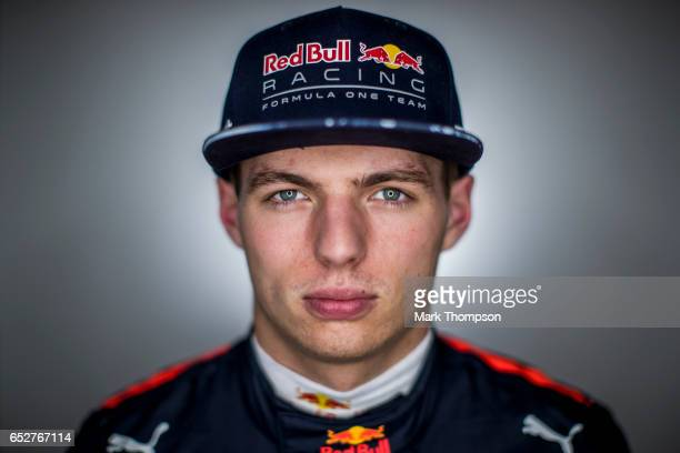 Max Verstappen of Netherlands and Red Bull Racing poses for a portrait during day three of Formula One winter testing at Circuit de Catalunya on...