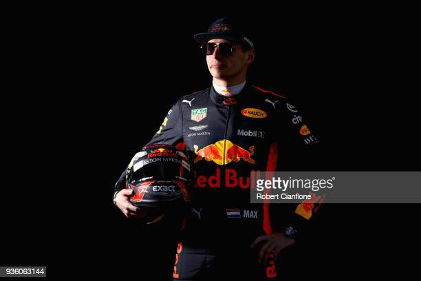 Max Verstappen of Netherlands and Red Bull Racing poses for a photo during previews ahead of the Australian Formula One Grand Prix at Albert Park on...
