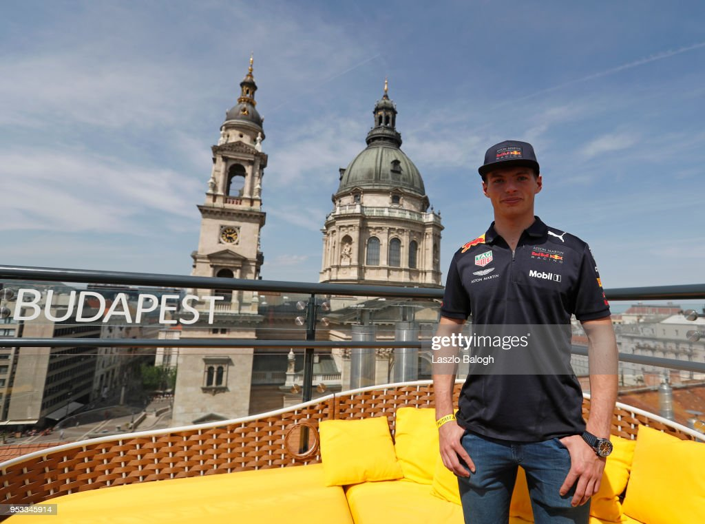 Max Verstappen of Netherlands and Red Bull Racing poses for a photo during the Red Bull Racing Budapest Showrun on May 1, 2018 in Budapest, Hungary.