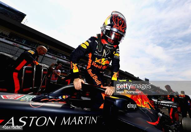 Max Verstappen of Netherlands and Red Bull Racing prepares to drive on the grid before the Formula One Grand Prix of Mexico at Autodromo Hermanos...