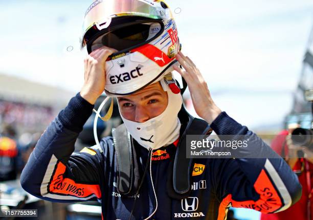 Max Verstappen of Netherlands and Red Bull Racing prepares to drive on the grid before the F1 Grand Prix of France at Circuit Paul Ricard on June 23,...