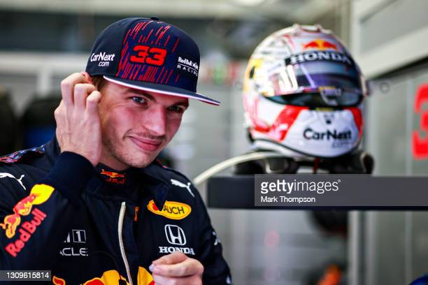 Max Verstappen of Netherlands and Red Bull Racing prepares to drive prior to the F1 Grand Prix of Bahrain at Bahrain International Circuit on March...