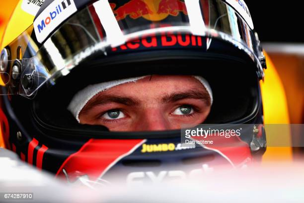 Max Verstappen of Netherlands and Red Bull Racing prepares to drive in the garage during practice for the Formula One Grand Prix of Russia on April...