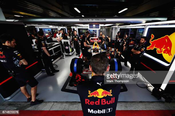 Max Verstappen of Netherlands and Red Bull Racing prepares to drive during qualifying for the Formula One Grand Prix of Russia on April 29, 2017 in...