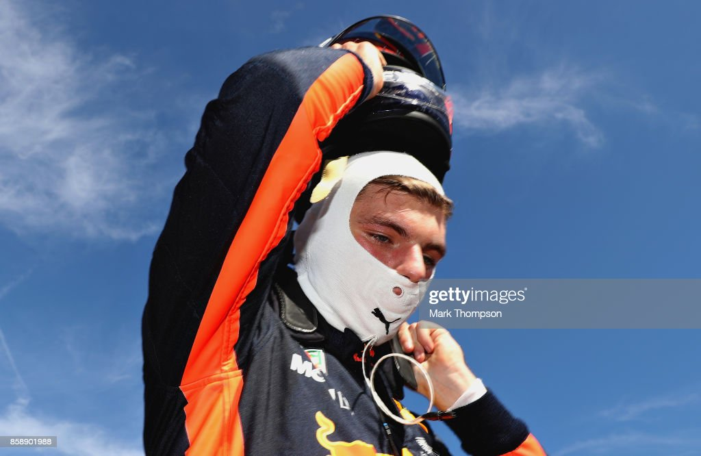 Max Verstappen of Netherlands and Red Bull Racing prepares to drive on the grid before the Formula One Grand Prix of Japan at Suzuka Circuit on October 8, 2017 in Suzuka.