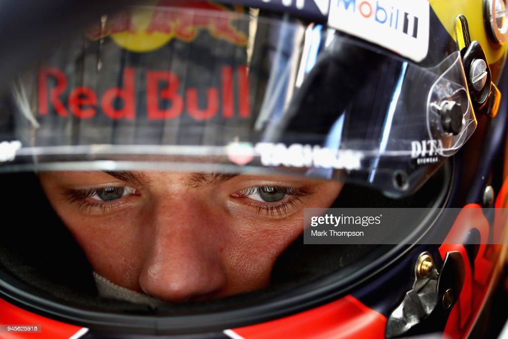 Max Verstappen of Netherlands and Red Bull Racing prepares to drive during practice for the Formula One Grand Prix of China at Shanghai International Circuit on April 13, 2018 in Shanghai, China.