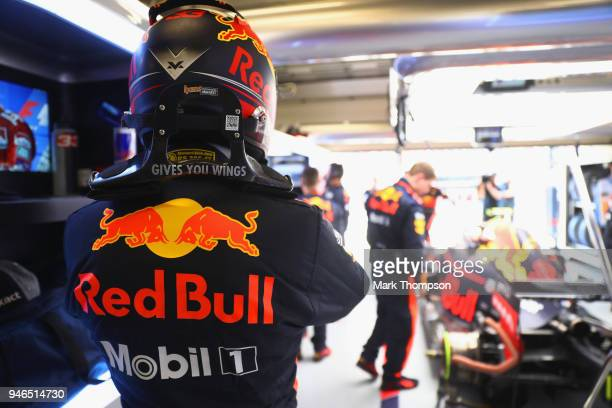 Max Verstappen of Netherlands and Red Bull Racing prepares to drive before the Formula One Grand Prix of China at Shanghai International Circuit on...
