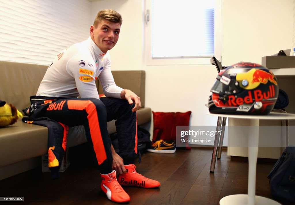 Max Verstappen of Netherlands and Red Bull Racing prepares to drive before practice for the Spanish Formula One Grand Prix at Circuit de Catalunya on May 11, 2018 in Montmelo, Spain.