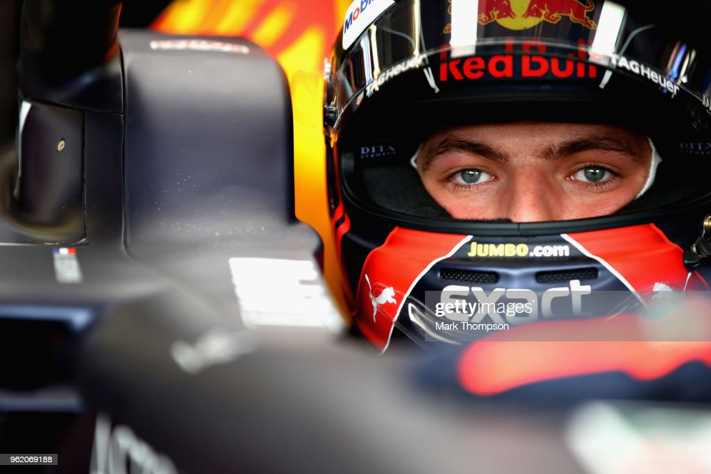 Max Verstappen of Netherlands and Red Bull Racing prepares to drive in the garage during practice for the Monaco Formula One Grand Prix at Circuit de Monaco on May 24, 2018 in Monte-Carlo, Monaco.