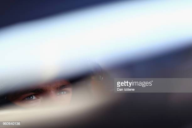 Max Verstappen of Netherlands and Red Bull Racing prepares to drive during practice for the Formula One Grand Prix of Great Britain at Silverstone on...