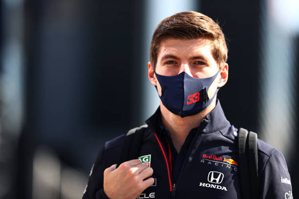 Max Verstappen of Netherlands and Red Bull Racing walks in the Paddock during previews ahead of the F1 Grand Prix of Turkey at Intercity Istanbul...