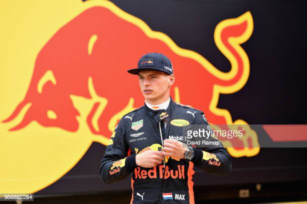 Max Verstappen of Netherlands and Red Bull Racing walks in the Paddock during previews ahead of the Spanish Formula One Grand Prix at Circuit de...
