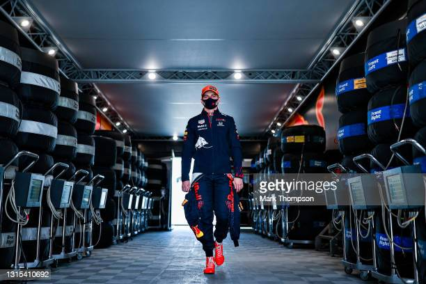 Max Verstappen of Netherlands and Red Bull Racing walks to the garage during practice ahead of the F1 Grand Prix of Portugal at Autodromo...
